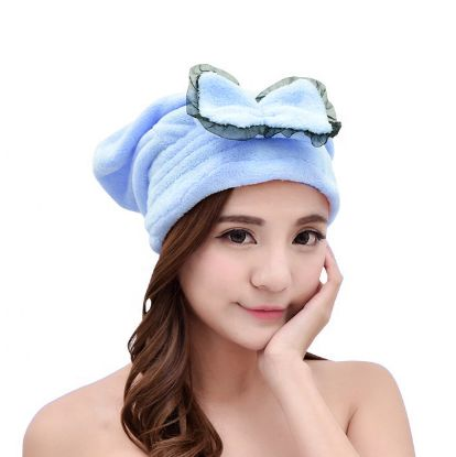 Picture of Microfiber Shower Cap Blue